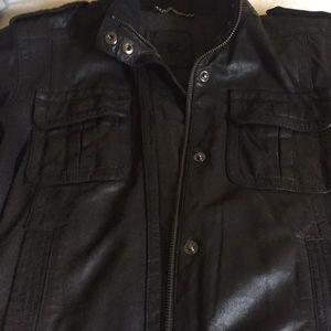 Banana Republic Heritage Leather Jacket Black S
